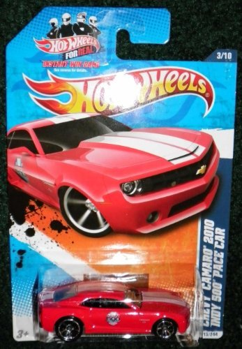 2011 HOT WHEELS NIGHTBURNERZ 3/10 RED CHEVY CAMARO 2010 INDY 500 PACE CAR - Pace Camaro 500 Indy Car