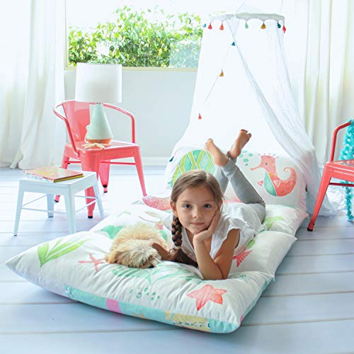 Butterfly Craze Kids Floor Pillow Bed Lounger Cover ()