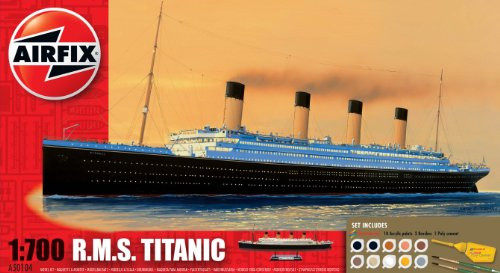Airfix A50104 1:700 Scale RMS Titanic Gift Set Classic Ship Gift Set inc Paints Glue and Brushes