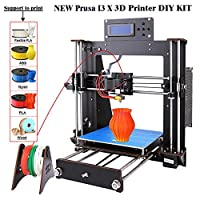 3D Printer I3 High Precision Large Size Desktop 3D Printer Kit Reprap Prusa I3 DIY Self-Assembly LCD Screen PLA/ABS Filament 1.75MM DIY 3D Printer 200x200x180 (DIY-I3 3D Printer)