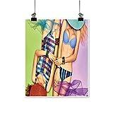 Wall Artfashion Beauty Sexy Fashion wo Body in Swimsuit peoplae Friends for Hallway