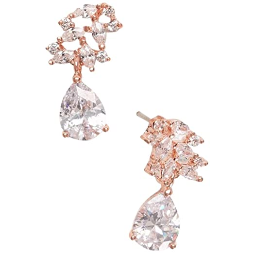 pear pendientes solitario drop sterling zirconia loading plated zoom silver of gold lagrimas en made earrings and