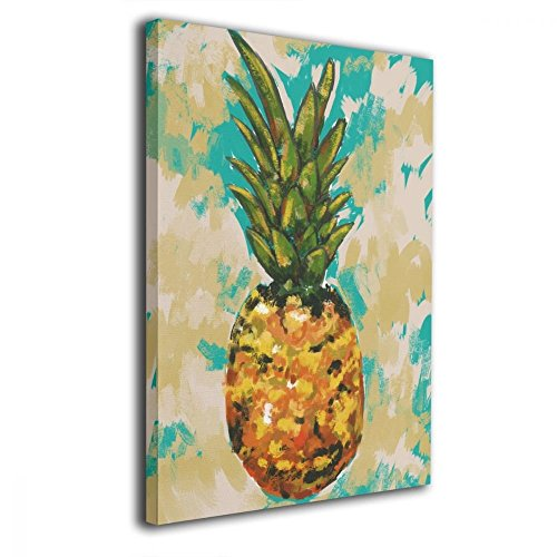 Art-logo Pineapple Fruit Tropical Kitchen Modern Paintings On Canvas Framed Prints 16x20inches Canvas Print Paintings for Wall and Home ()