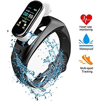 Amazon.com: PGTC Fitness Sport Smartwatch Bluetooth Headset ...