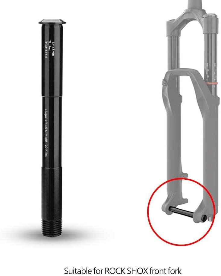 Yosoo Health Gear Assale Anteriore per Bicicletta Assale Anteriore 100x15mm Assale per Forcella per Accessorio Forcella Rock Shox