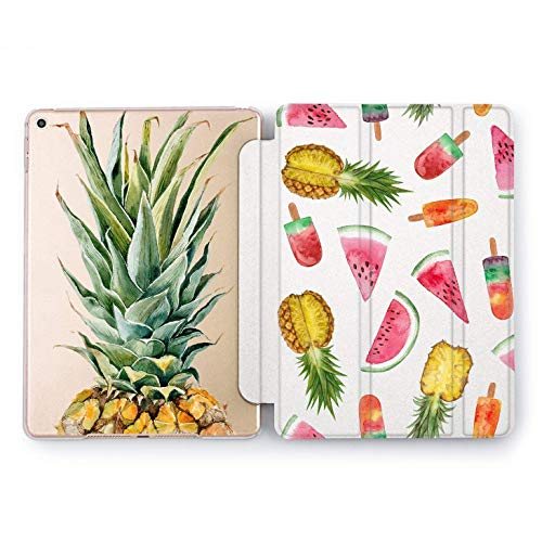 (Wonder Wild Pineapple Case iPad Mini 1 2 3 4 Air 2 Pro 10.5 12.9 Tablet 2018 2017 9.7 inch 5th 6th Generation Fruit Design Cover Rose Gold Watermelon Ice Cream Pattern Sweet Girls Gift Summer Cute)
