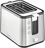 KRUPS KH442D Control Line Toaster with Integrated Bun Warmer and Brushed Stainless Steel Housing, 2-Slice, Silver