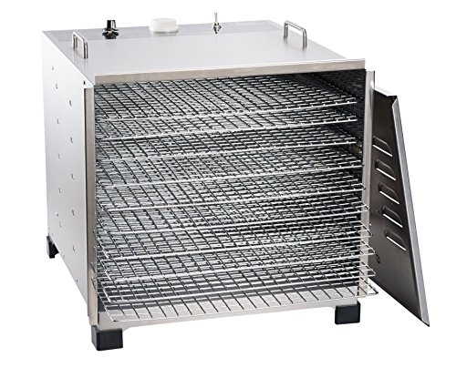 LEM Products 778A Stainless Steel 10 Tray Dehydrator w/ timer by LEM