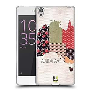 Head Case Designs Australia Patterned Maps Soft Gel Case for Sony Xperia E5