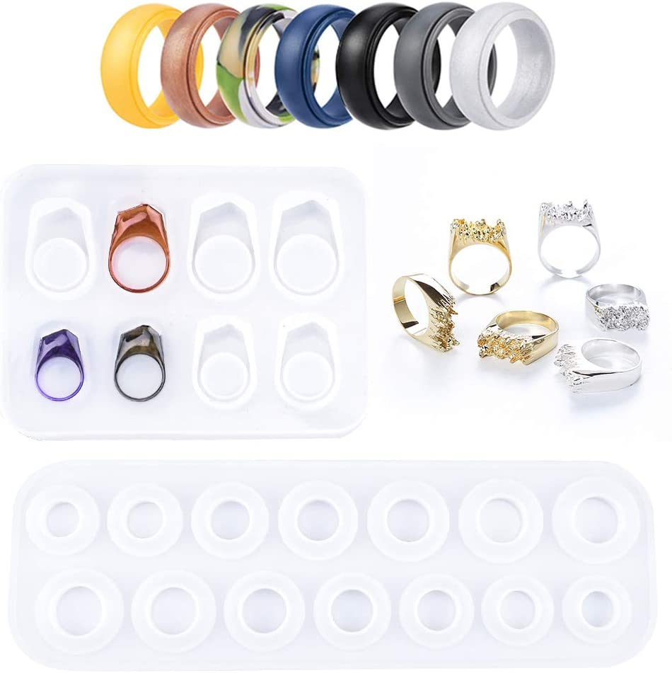 132Pcs Number Letter Silicone Molds DIY Resin Casting Kit Contains N2D1