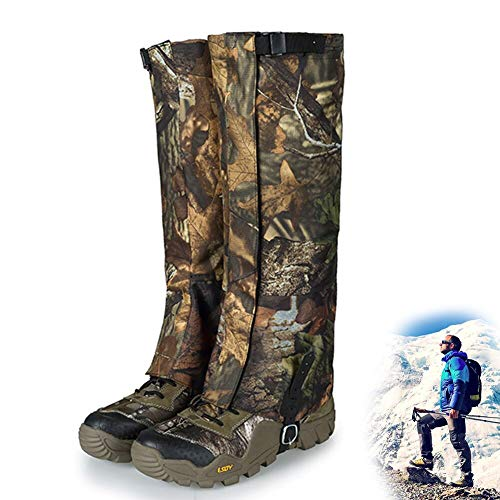 Hunting Leg Gaiters Waterproof Boot Gaiters Snow Shoe Cover for Men and Women, Camo Gaiters Against Snake Bug Mud Dirt