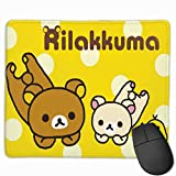 AntonioWilliams Rilakkuma Cool Gaming Mouse Pad, Non-Slip Rubber Mouse Pad Game Office Learning Precision Seaming 25X30cm