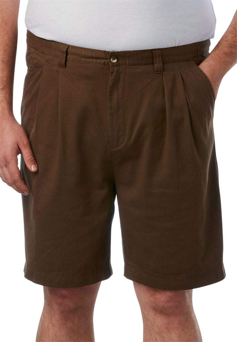 KingSize Men's Big & Tall Knockarounds 8'' Pleat Front Shorts, Dark Wheat