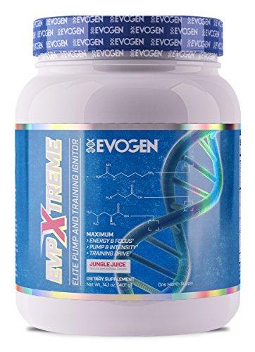 (Evogen EVP Xtreme | Elite Pump & Training Ignitor, Citrulline, Nitrosigine, Glycerophosphates, Beta-Alanine | 24 Servings (Jungle Juice, 24 Servings))