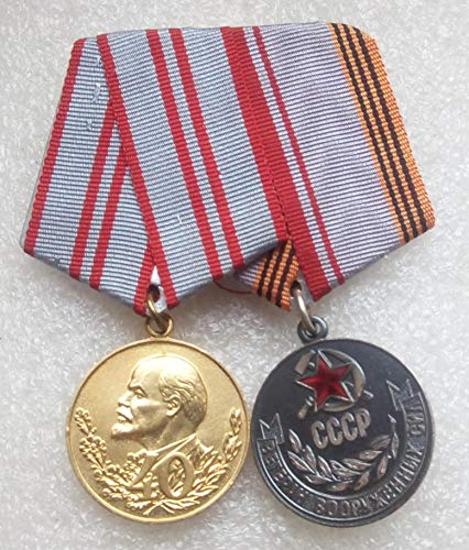 Set 2 Soviet Army USSR Russian Medals Veteran WW II Red Army RKKA Communist Bolshevik Period Cold war era Militaria Soldiers Red Star Lenin