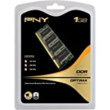 PNY OPTIMA 1GB  DDR 333 MHz PC2700  Notebook / Laptop SODIMM Memory Module MN1024SD1-333