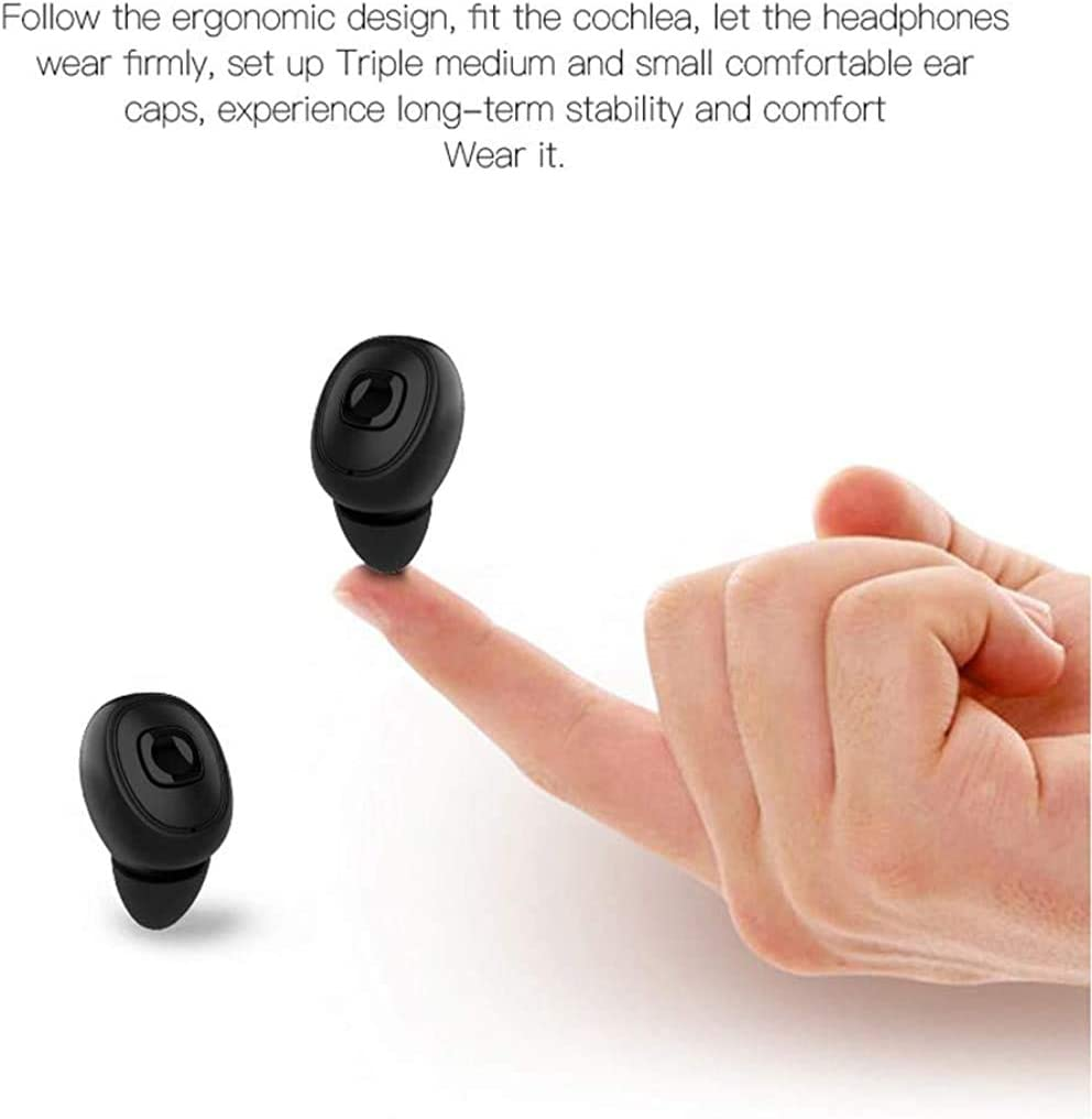 Wireless Earbuds Stereo HiFi Sound /& HD Mic Bluetooth Earphones IPX5 Waterproof for iOS and Android Device Viancane Bluetooth Wireless Headphones Bluetooth 5.0 in-Ear Earbuds with LED Display 3000mAh Charging Case