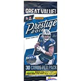 2018 Panini Prestige NFL Football EXCLUSIVE Factory Sealed JUMBO FAT PACK with 30 Cards including 4 Rookies & 6 Inserts/Parallel! Look for RC & Auto's of Baker Mayfield, Saquon Barkley & More! WOWZZER