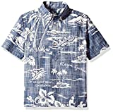 Reyn Spooner Boys' Big Pullover Hawaiian Shirt, My Private Isle - Ink, L