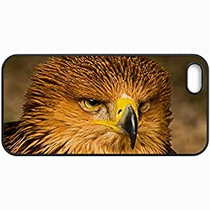 Customized Cellphone Case Back Cover For iPhone 5 5S, Protective Hardshell Case Personalized Eagle Black
