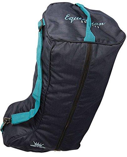 Harrys Horse Stiefeltasche WI 17 dunkelblau| Reitstiefeltasche |Tragetasche für Reitstiefel | Reitstiefel Tasche | Reitstiefel Schutz | Stiefelbeutel |Tasche für Reitstiefel | Reitertasche