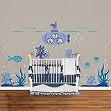 Walplus Wandsticker Wand Aufkleber Sticker Papierkunst Dekoration Meer  Super Ozeanwelt Fisch Kinderzimmer Kinder U Boot