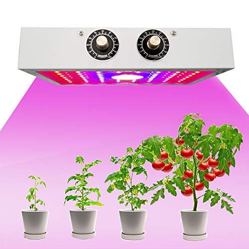 Grow Light for Indoor Plant, 1200W Double Chips Full Spectrum LED Grow Lights for Indoor Plants,Grow Lights with Switch,Professional for Seedling Growing Blooming Fruiting