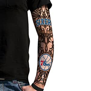 Nba philadelphia 76ers light undertone tattoo for Tattoo sleeves amazon
