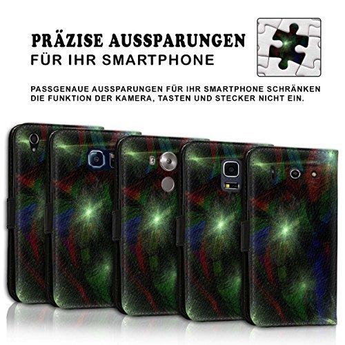 Wallet Book Style Flip Handy Tasche Case Schutz Hülle Schale Motiv Etui für Apple iPhone 6 / 6S - Design Flip MV243