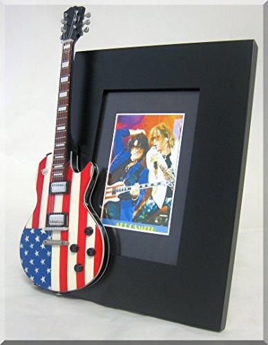 AEROSMITH Miniature Guitar Photo Frame Tyler and ()