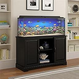 Altra Furniture Harbor Aquarium Stand, 50-75 gallon, Black