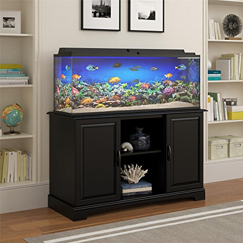 Altra Furniture Harbor Aquarium Stand, 50-75 gallon, Black (Fish Tanks With Stands)