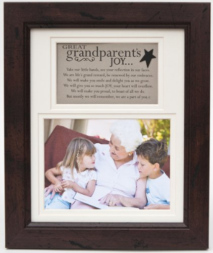 The Grandparent Gift Frame Wall Decor, Great-Grandparent's Joy from The Grandparent Gift Co.