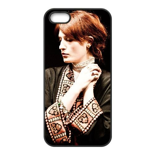 Florence + The Machine 002 coque iPhone 4 4S cellulaire cas coque de téléphone cas téléphone cellulaire noir couvercle EEEXLKNBC25072