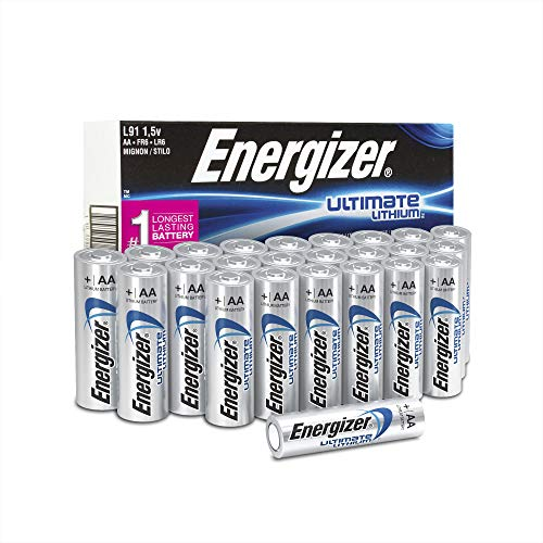 Energizer AA Lithium Batteries, Ultimate Lithium Double A Battery, (24 (That Uses Aa Batteries)
