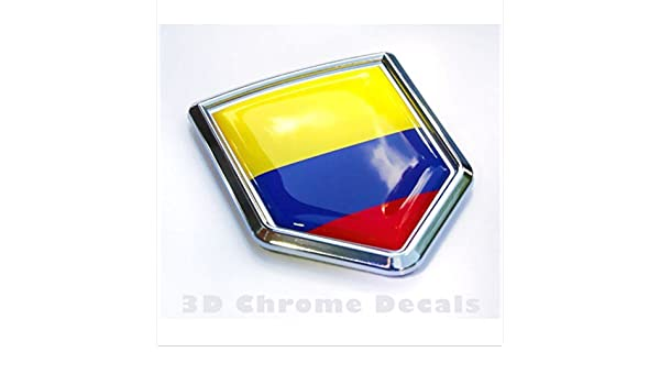 Amazon.com: Colombia Flag Colombian Emblem Chrome Car Decal Sticker: Everything Else