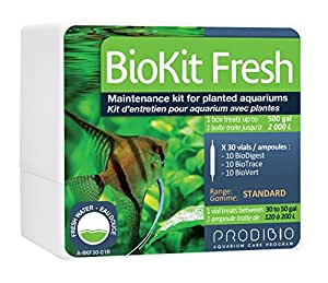 Prodibio Bio Kit, Planted Freshwater Mantenance, 30/1 mL vials, 30 gal and up