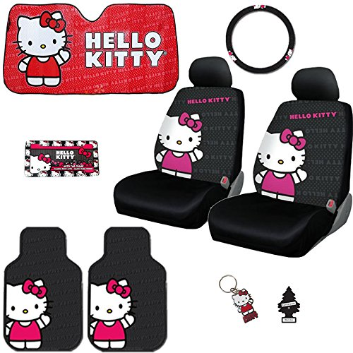hello kitty car accessories kit - 2