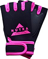 Weightlifting Gloves - Nutra-Strength - Best Weight Lifting Gloves For Women and Men - 100% Money Back Guaranteed – Neoprene Gloves Available In Pink, Red, Blue and Yellow - Padded Weight Lifting Gloves With Wrist Support For Gym Fitness Bodybuilding Cros