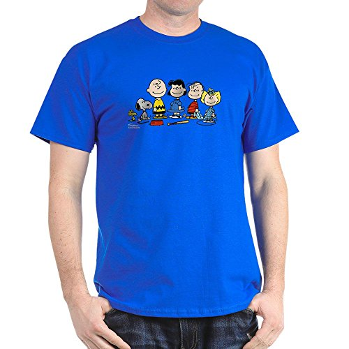 CafePress The Peanuts Gang Dark T Shirt 100% Cotton T-Shirt