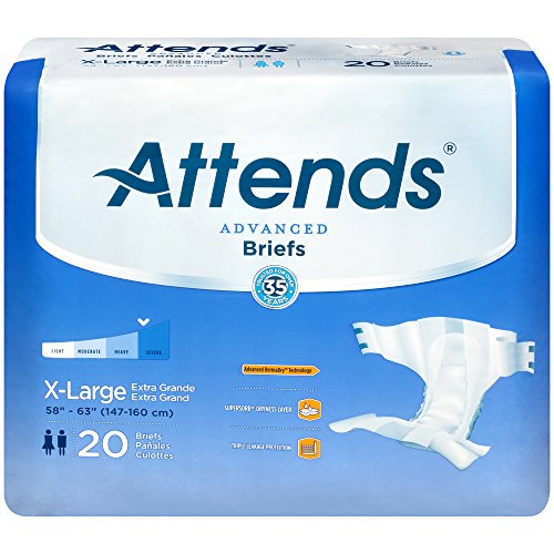 Attends Extra Absorbent Breathable Briefs Case of 60/1 XL by Attends Healthcare Attends Breathable Extra Absorbent