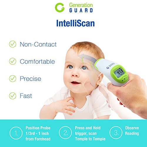 Clinical-Forehead-Thermometer-FDA-Approved-Instant-Read-Sensor-for-Digital-Fever-Measurement-Temporal-Professional-No-Touch-Readings-Baby-Adult-Children-Best-Infrared-Scanner