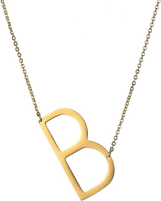 Handmade Monogrammed F , U, Q, E Shell Necklace
