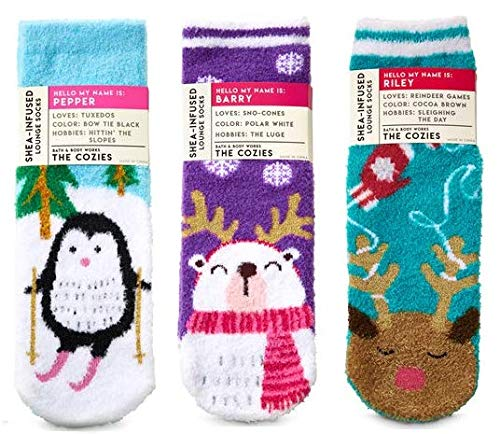 Bath and Body Works 3 Pack Winter Animals Shea-Infused Loung