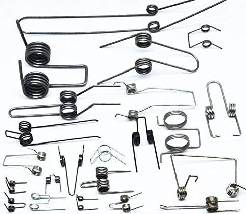 YSJJAXR Lente 2 stks Multifunctionele torsie veer staal dubbele torsie veren 111121418mm draad diameter DIY hardware gereedschap Lengte 1x46mm 3 spoelen