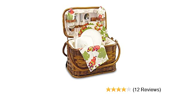 Amazon.com: Picnic Time Romance Picnic Basket with Deluxe Service ...