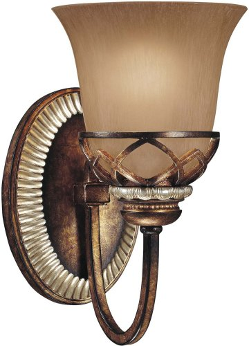 Minka Aston Court Collection (Minka Lavery 5741-206, Aston Court Reversible Glass Wall Sconce Lighting, 1 Light, 100 Watts, Bronze)