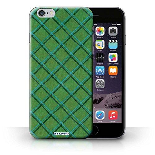Hülle Case für iPhone 6+/Plus 5.5 / Grün Entwurf / Kreuz Muster Collection