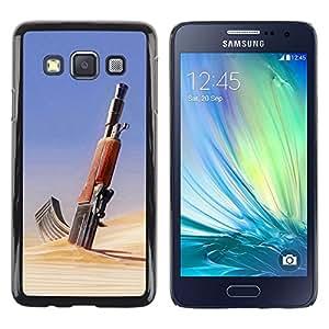 Smartphone Rígido Protección única Imagen Carcasa Funda Tapa Skin Case Para Samsung Galaxy A3 SM-A300 Desert Gun AK47 / STRONG