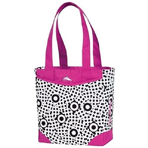 High Sierra Abigail Tote, Polka Dots Fuchsia/Pink, 13x11.5x5-Inch (Mini Bag High Sierra Shoulder)